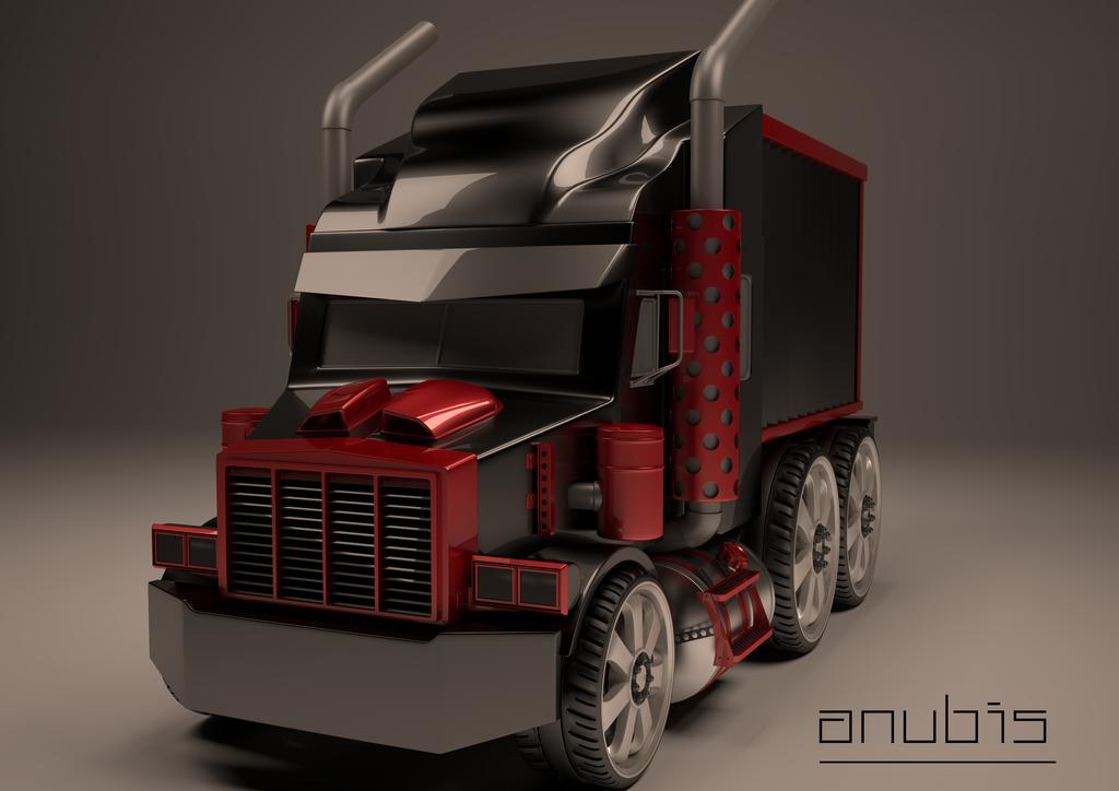 Semi Truck by licifer-of-art