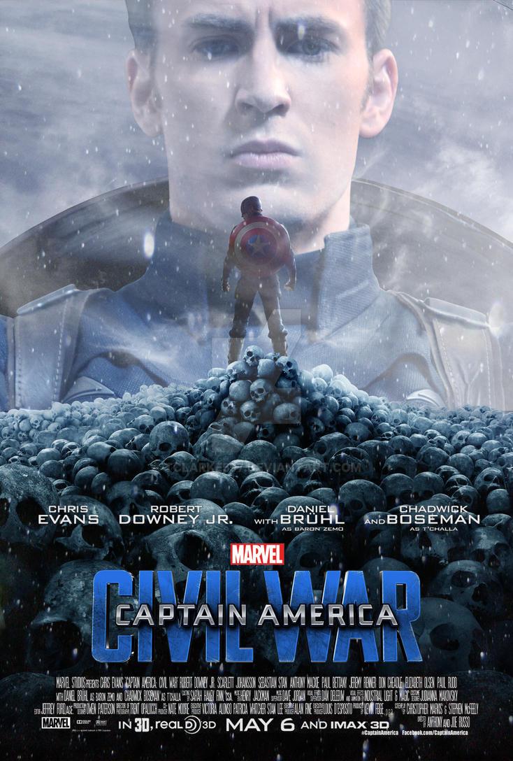 Captain America- Civil War Poster (Steve Version) by tclarke597