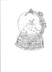 Bunny Snowglobe by Opaquejade