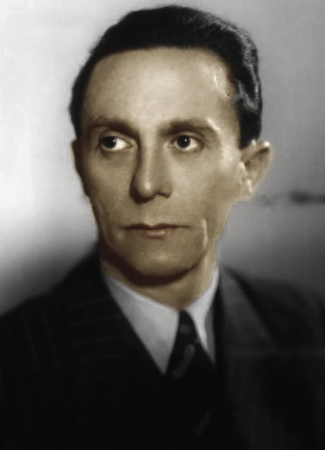 Are people who have very dark hair and brown eyes really ... Joseph Goebbels