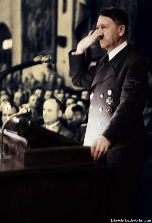 Adolf Hitler (in colour) 3 by Julia-Koterias