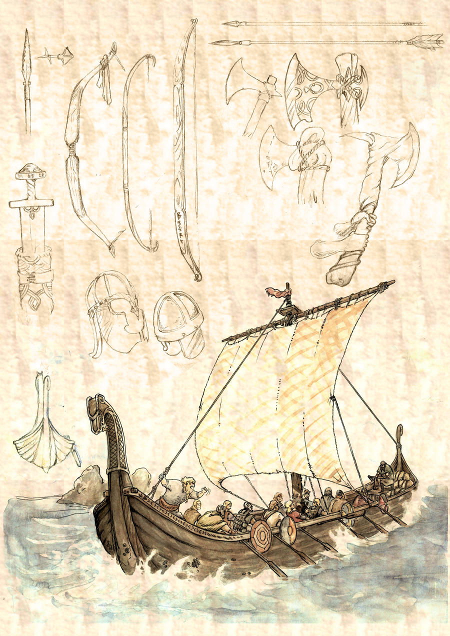 Viking ship by maureen90 on deviantart for Viking pencils