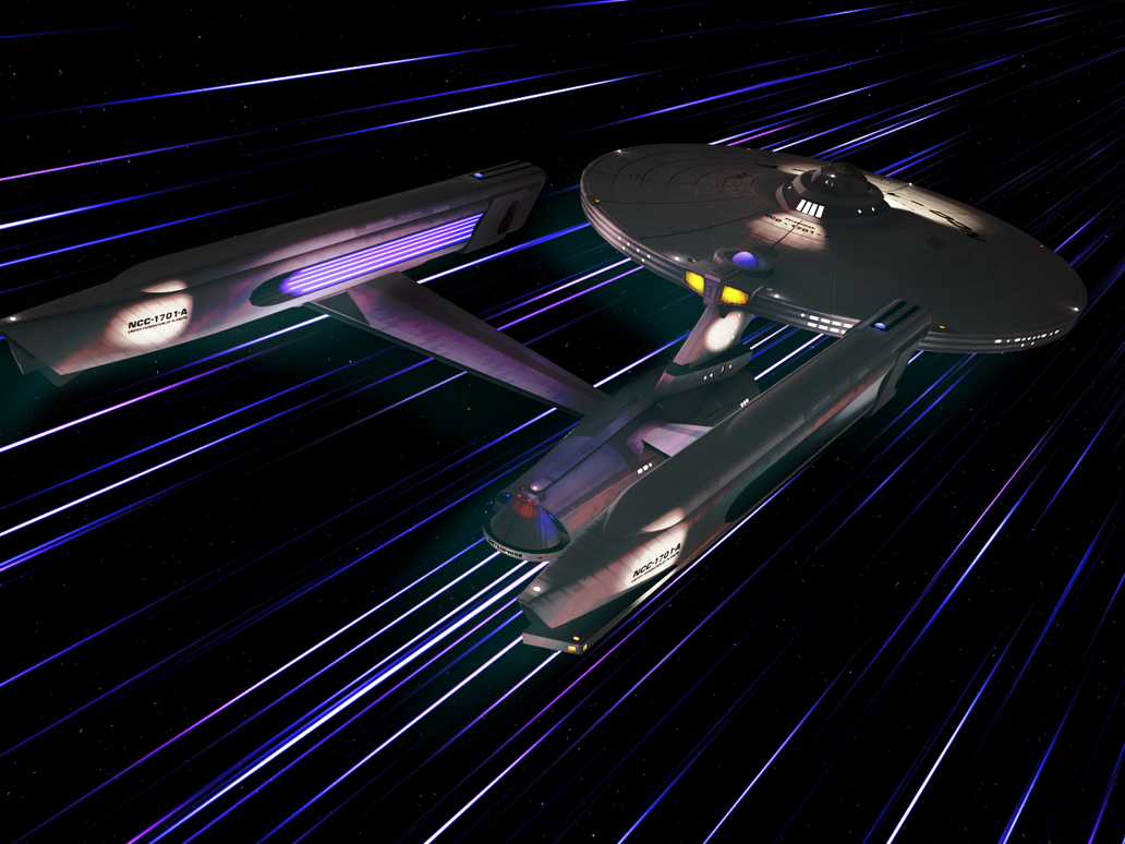 Enterprise at Warp by GregStitz