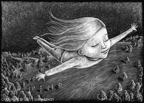 Girl Flying by SallyNixon