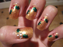 Holly Nails by THJumbie