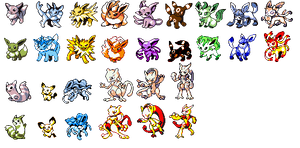 Retro Pokemon by Bestary