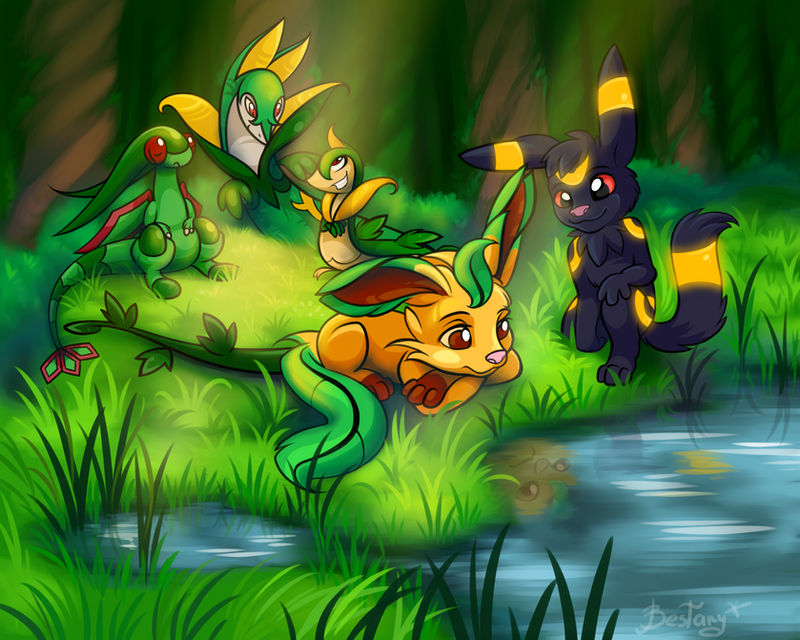 Day #21 Leafeon by Bestary