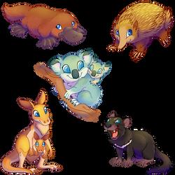 #1 Australias marsupials by Bestary