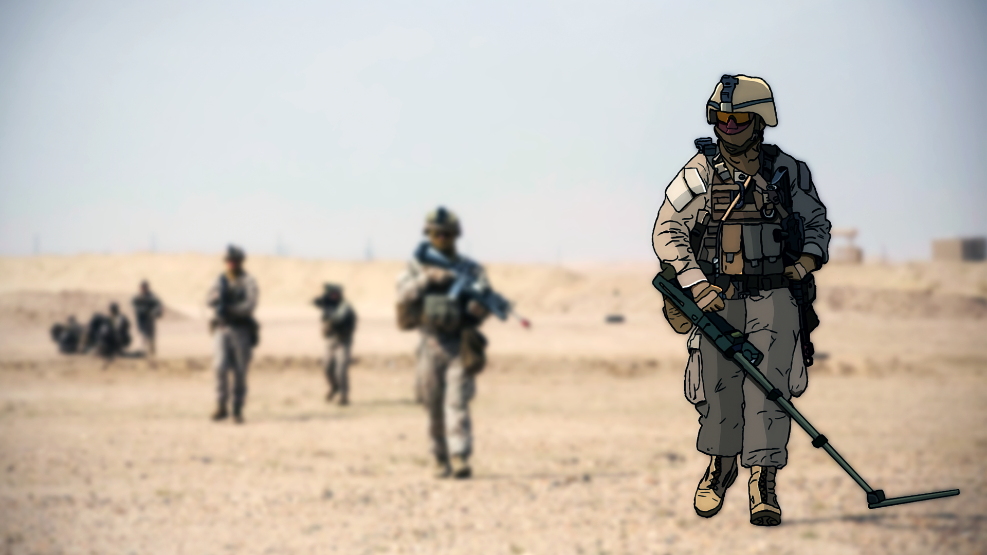 Marine With Metal Detector Wallpaper 1920x1080 By MuFFinFr3ak