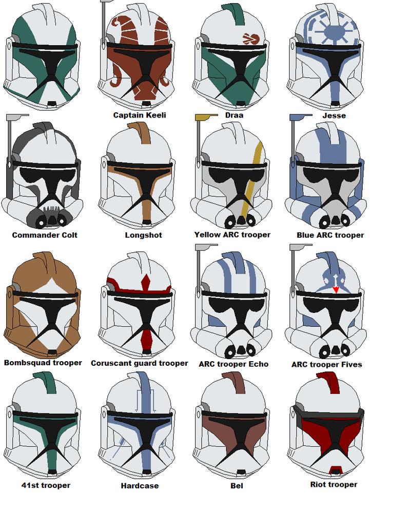 Clone Trooper Helmet Vector Clone trooper helmets 2 by