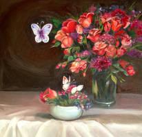 Red flowers by darksapphiredrop