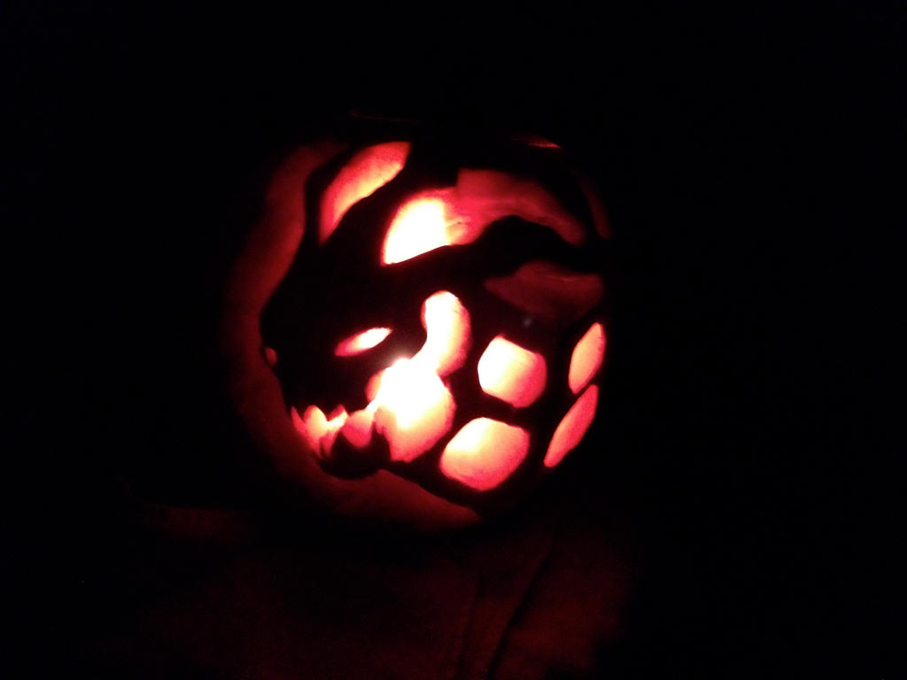 Thresh and his lantern pumpkin carving by cheinrichs on