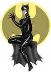 Catwoman Pinup Sketch
