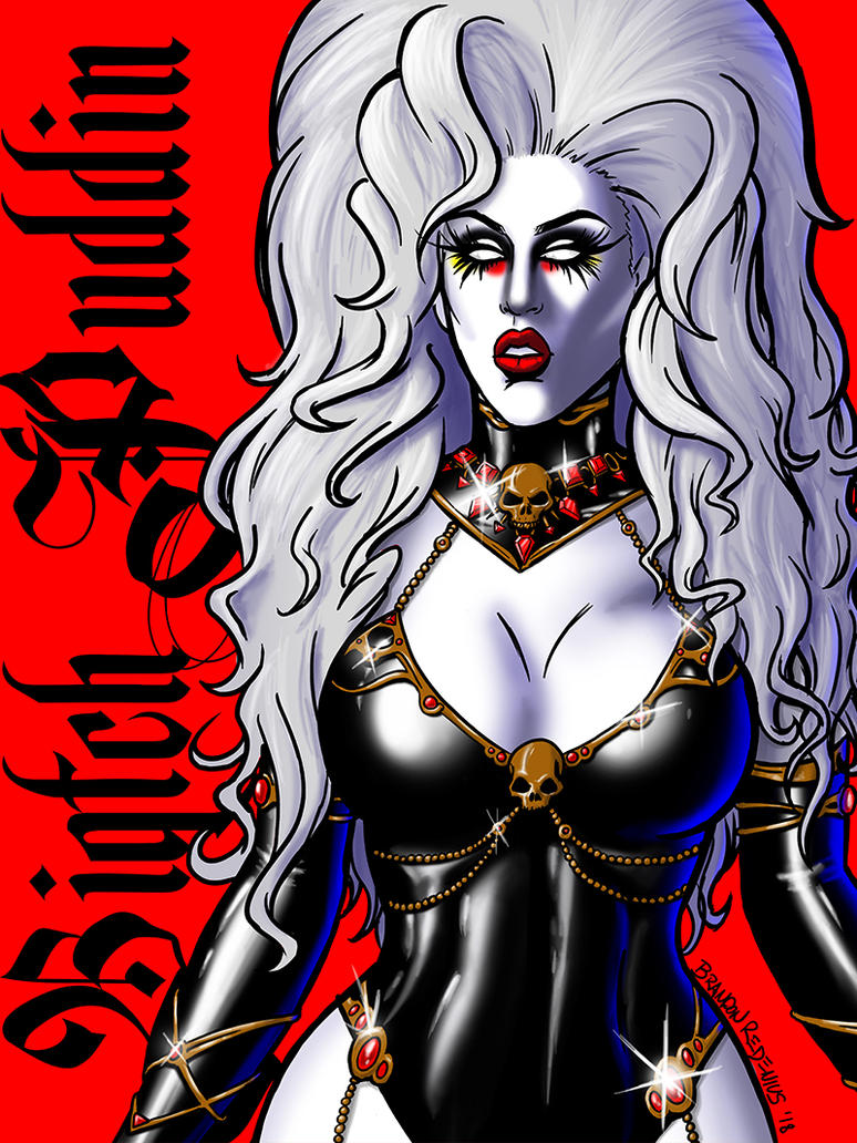 Biqtch Puddin as Lady Death (Dragula Season 2) by bredenius