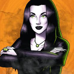 Morticia Addams by bredenius