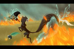 Event: Firestorm - Elementals by KaijuRomance