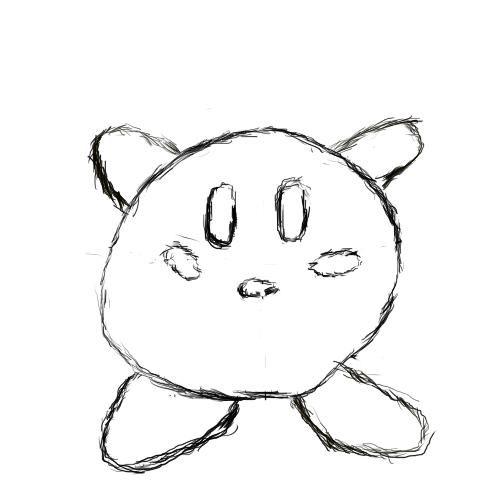 Kirby Sketch by Shaymin303