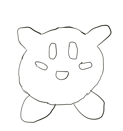 Kirby Outline by Shaymin303
