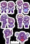 Corpse Party Sticker Set