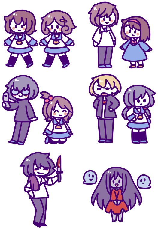Corpse party sticker set by bonbonbox