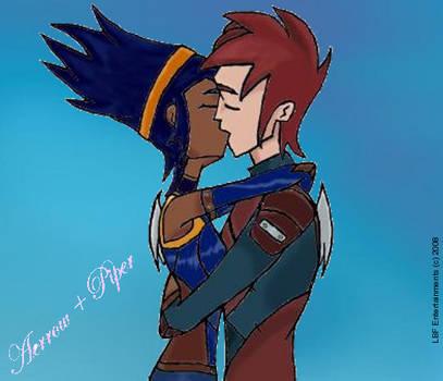 My Aerrow and Piper kiss by 123leyang321