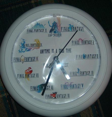 Final Fantasy Clock by Ansem87