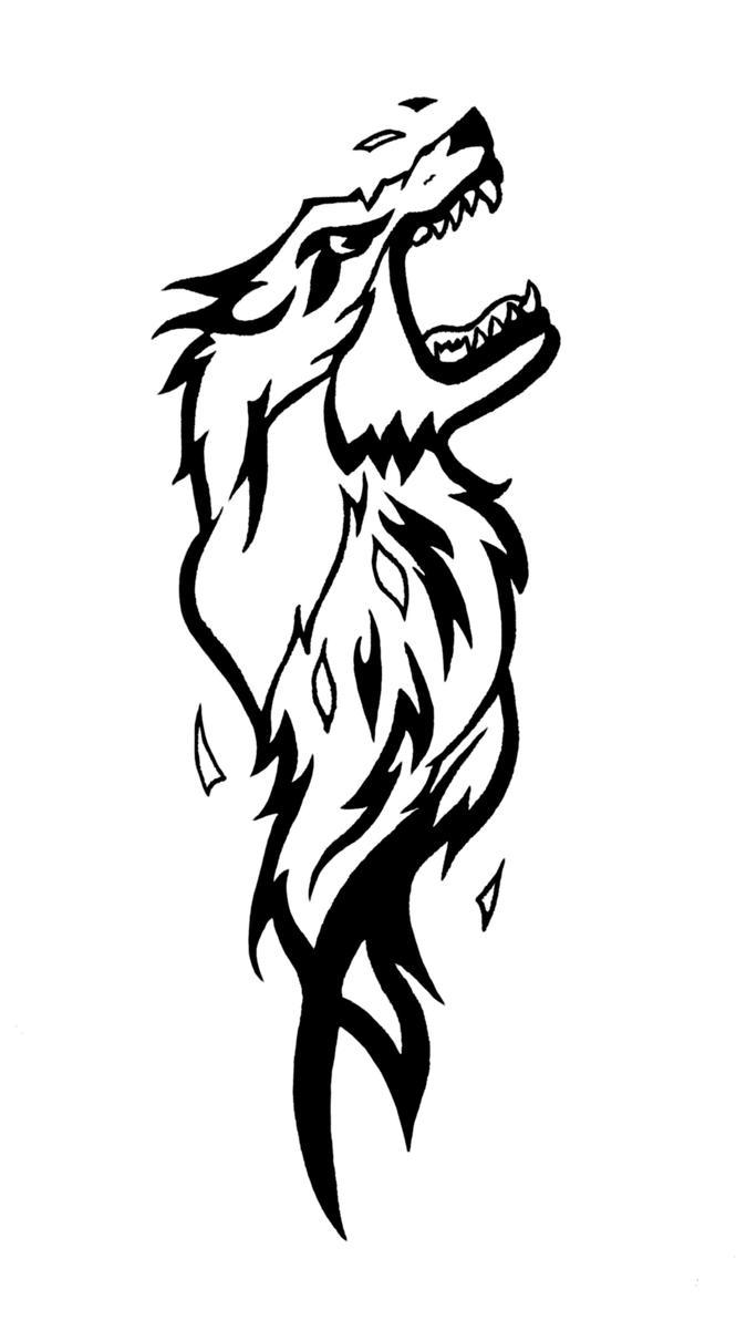 tattoo wolf by lordfercd