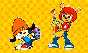 PaRappa and Lammy by SpongeTheSquid