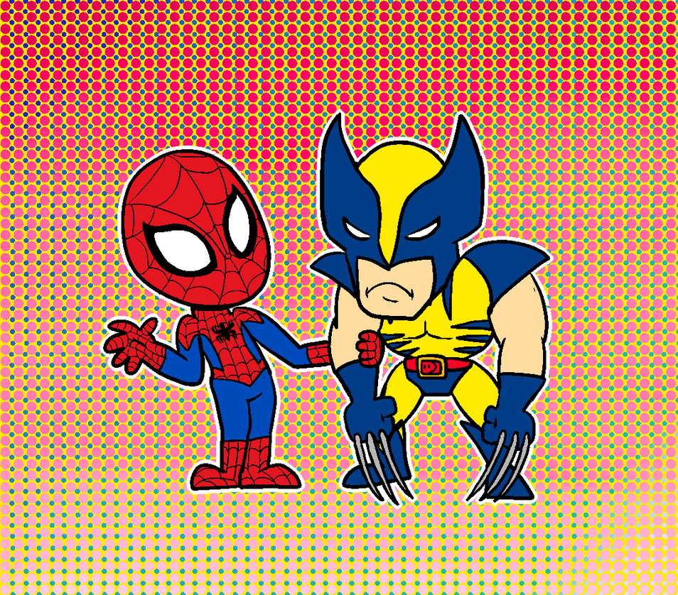 Spidey and Wolverine by SpongeTheSquid