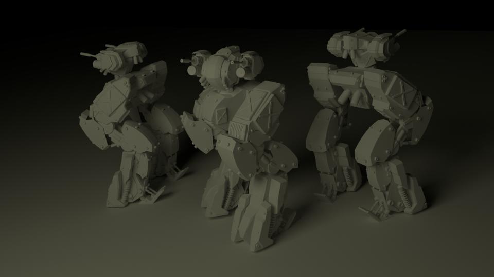 light armored mech by mrhd