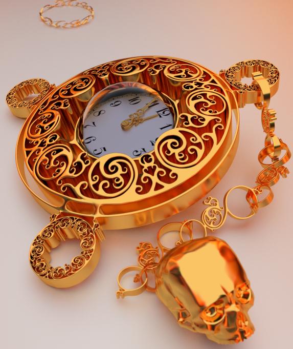 Mr.Death's Pocket watch by mrhd