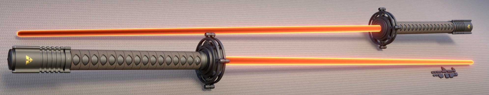 Katana plasma sword by mrhd