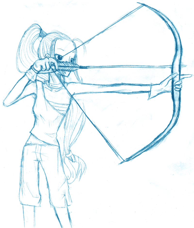Bow And Arrow Sketch By Hana117 On DeviantArt