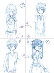 Love square 2 sketch by Hana117