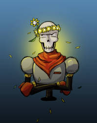 Undertale - Papyrus and Flowey by SeventhLife