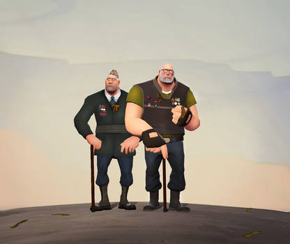 Russian veterans of WWII by MrRiar