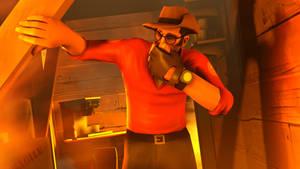 Sniper in fire