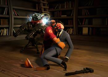 Engie and Spy by MrRiar