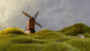 Old Windmill Cinema 4d