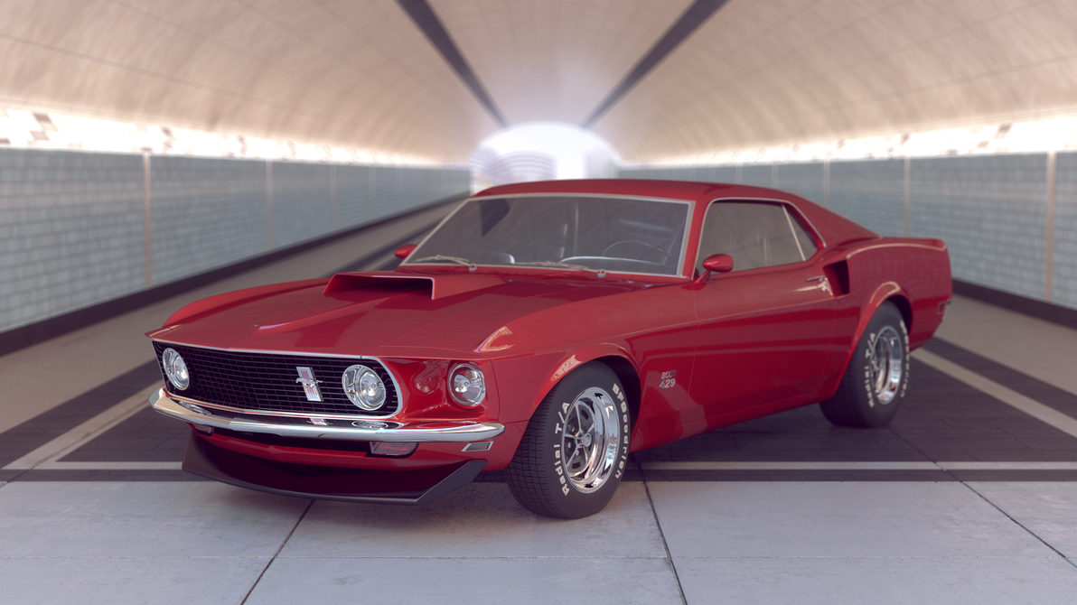 Ford Mustang 1969 Boss (Cinema 4D, V-Ray) by botshow