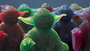 Star Wars Yoda Figurine Cinema 4D Arnold
