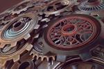 Steampunk Gears C4D Substance Painter Redshift