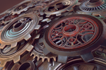 Steampunk Gears C4D Substance Painter Redshift