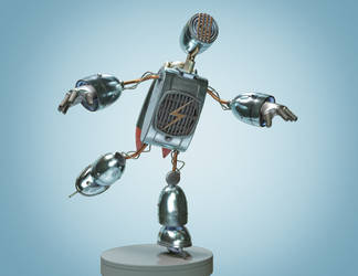 Junk Bot   C4D 3DS Max Substance Painter V-Ray by botshow