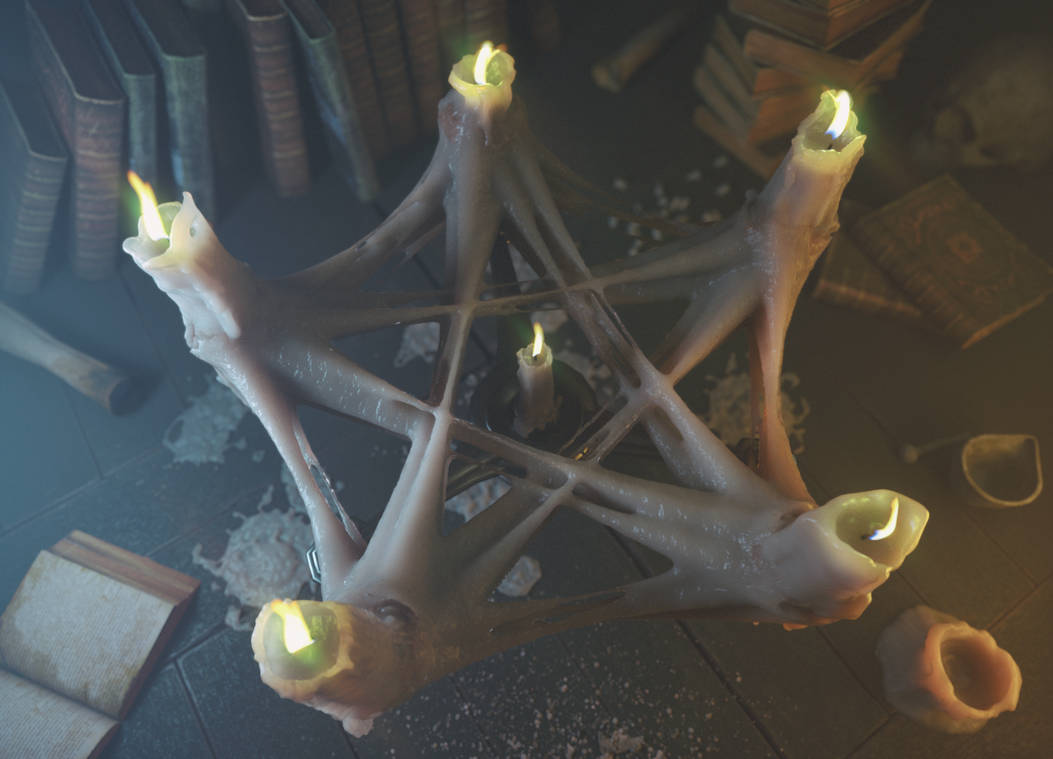 Witchcraft Candle Display Cinema 4D Octane by botshow on DeviantArt