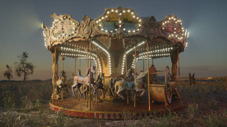 Carousel 3D Scan Cinema 4D Redshift by botshow