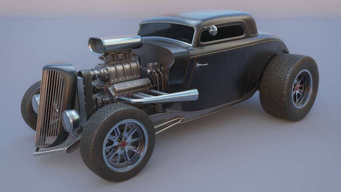 1934 Ford Coupe Custom Hot Rod by botshow