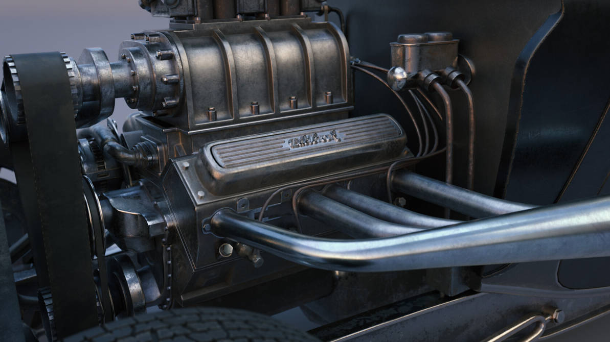 1934 Ford Coupe Engine by botshow