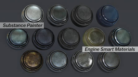 Substance Painter Engine Metal Smart Materials by botshow