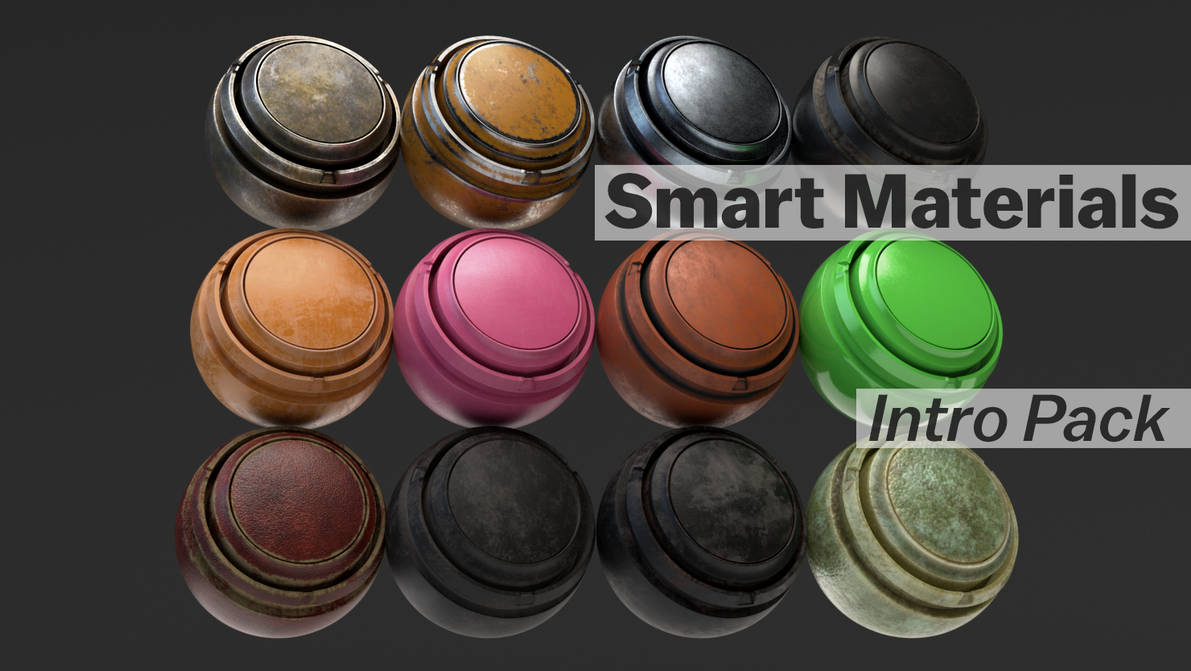 Substance Painter Smart Materials Intro 12 Pack by botshow